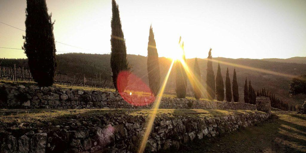 Sunrise image near Podere Patrignone Tuscan Villa Rentals