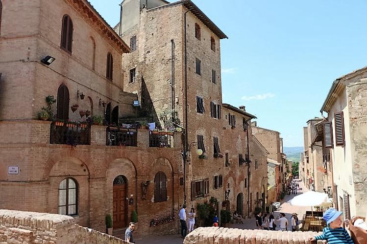 The high street in Certaldo Alto, near our Agritusismo in Chianti, Podere Patrignone www.patrignone.com
